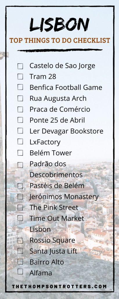 Lisbon Bucket List Challenge