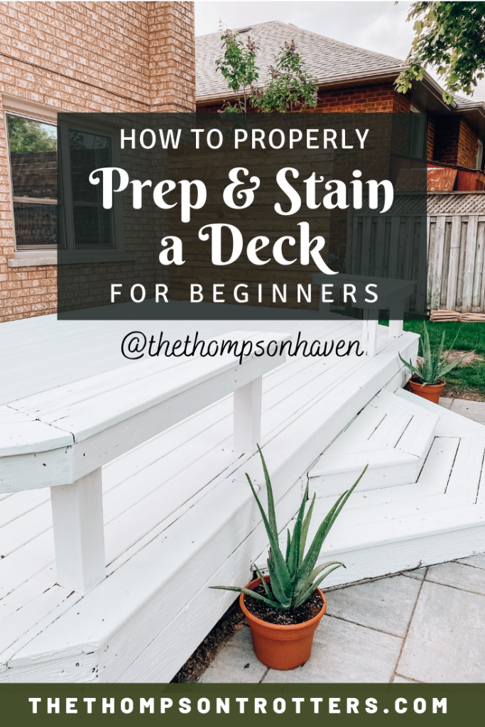 Deck Staining & Refinishing how-to with prep instructions for beginners